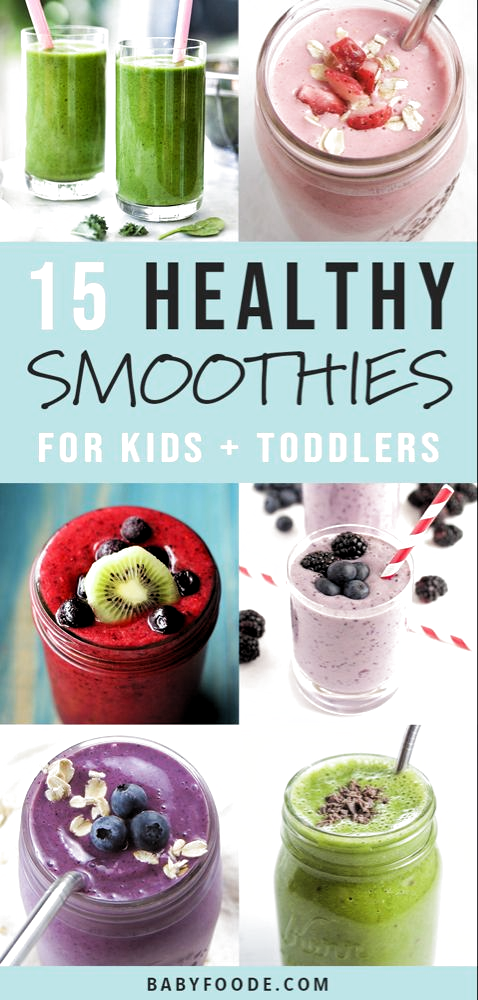 Smoothies are the BEST way to get more fruits and vegetables into your picky eaters diet! Smoothies are easy, fast, and delicious, and Ive got 15 kid friendly recipes for you to try for breakfast, snacks, and on the go treats! These healthy smoothie recipes are great for your toddlers, kids, and baby led weaning babies. #smoothies #healthyrecipes #kidfriendly #healthysnacks #breakfast