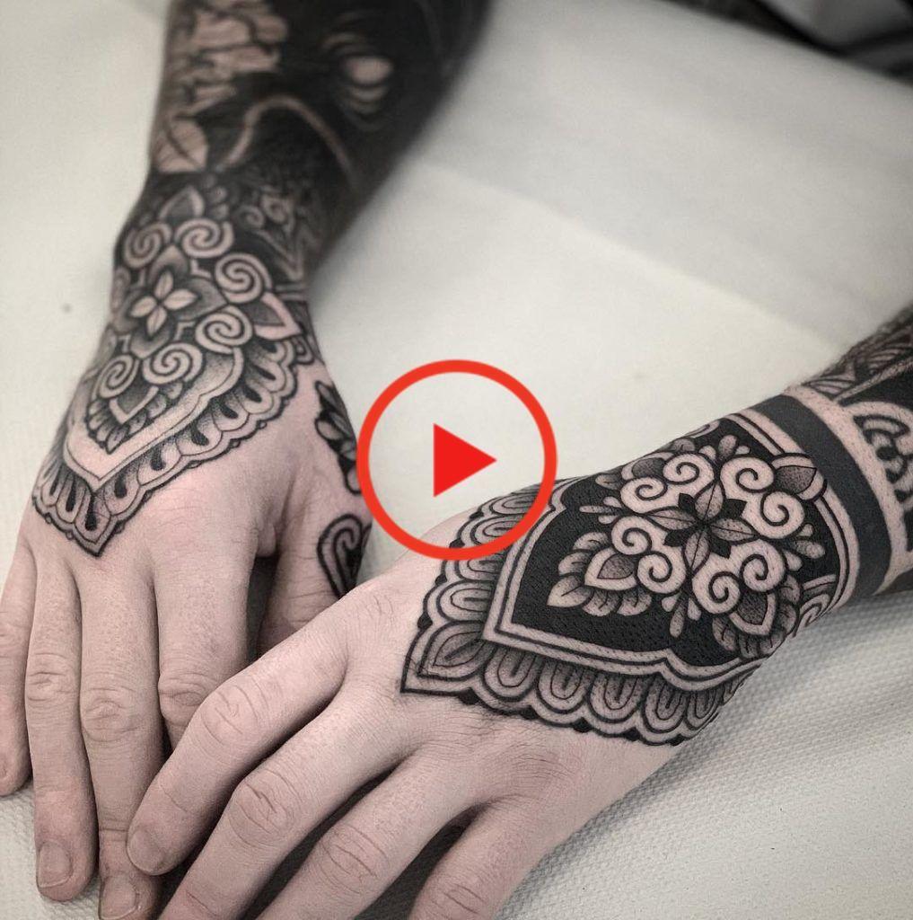 Ornamental Tattoo Artist Jack Peppiette In 2020 Hand Tattoos For Women Hand Tattoos Mandala Hand Tattoos