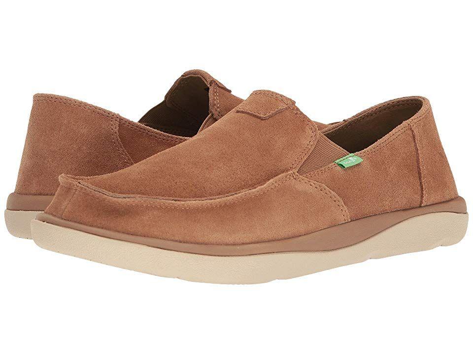 ef79728d96d Sanuk Vagabond Tripper Suede (Light Brown) Men's Slip on Shoes. The ...