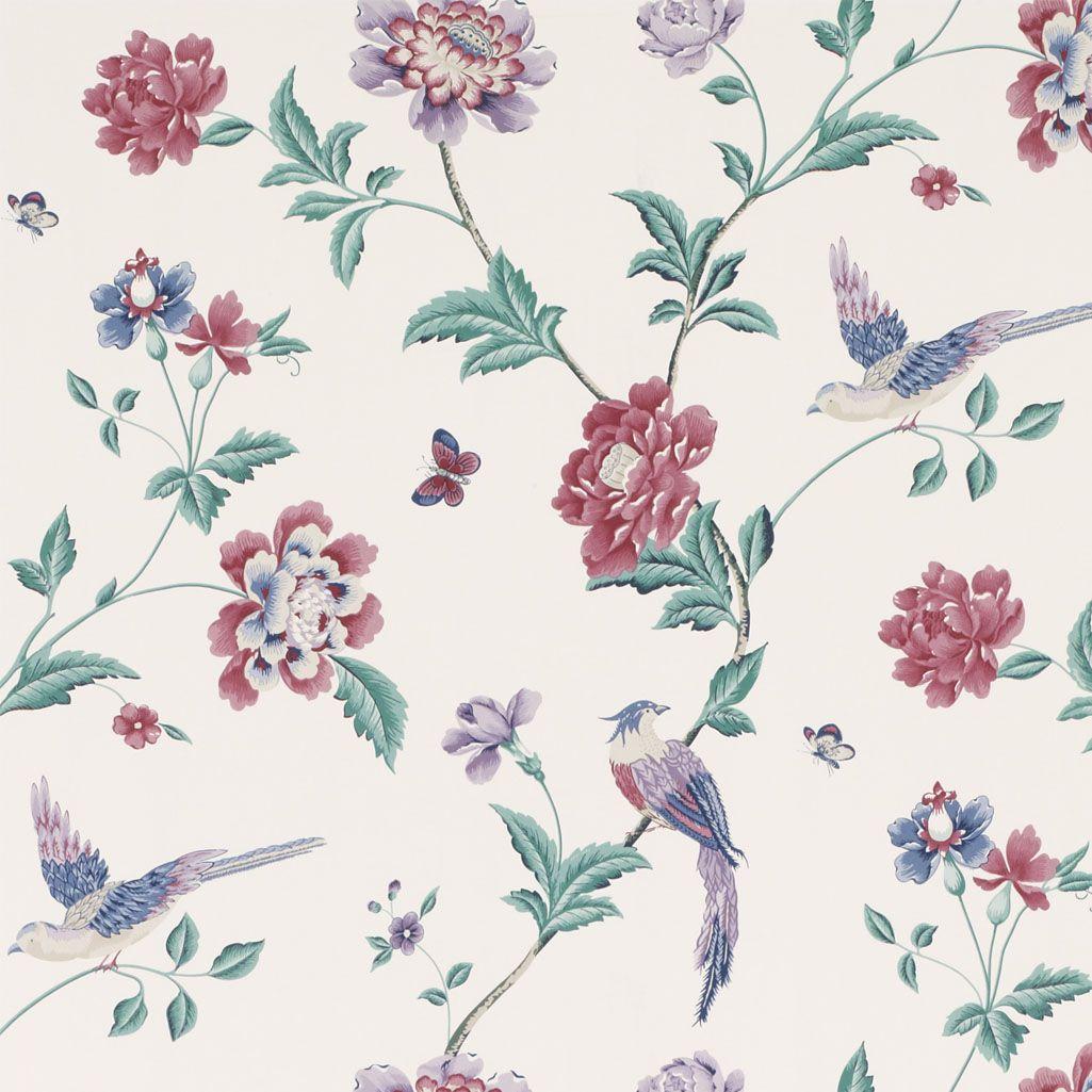 Elveden Wallpaper Cranberry