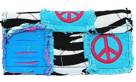 Classic Peace Sign Wallet-Turquoise