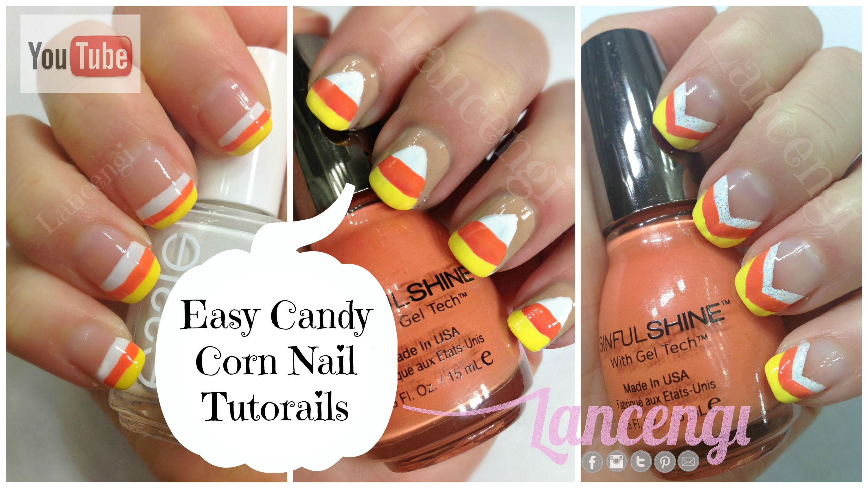 Diy Halloween Nail Art The Ultimate Guide To Candy Corn Nails Plus