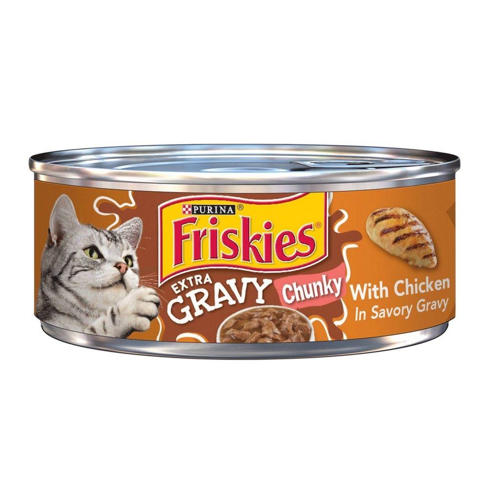 Purina Friskies Extra Gravy Chunky With Chicken Wet Cat Food 5 5oz Ea Purina Friskies Friskies Wet Cat Food