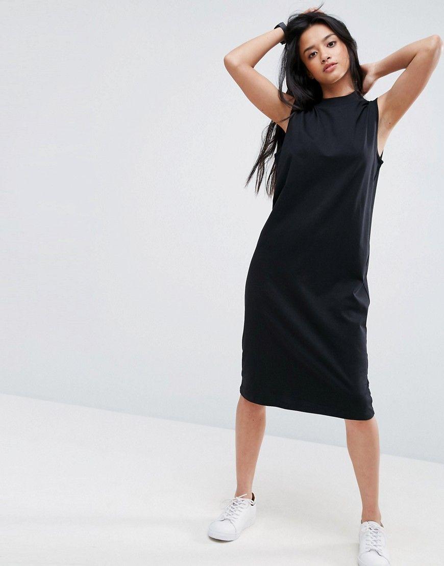 c67d19fbf773 PETITE Midi Sleeveless T-Shirt Dress with V Back | Products ...