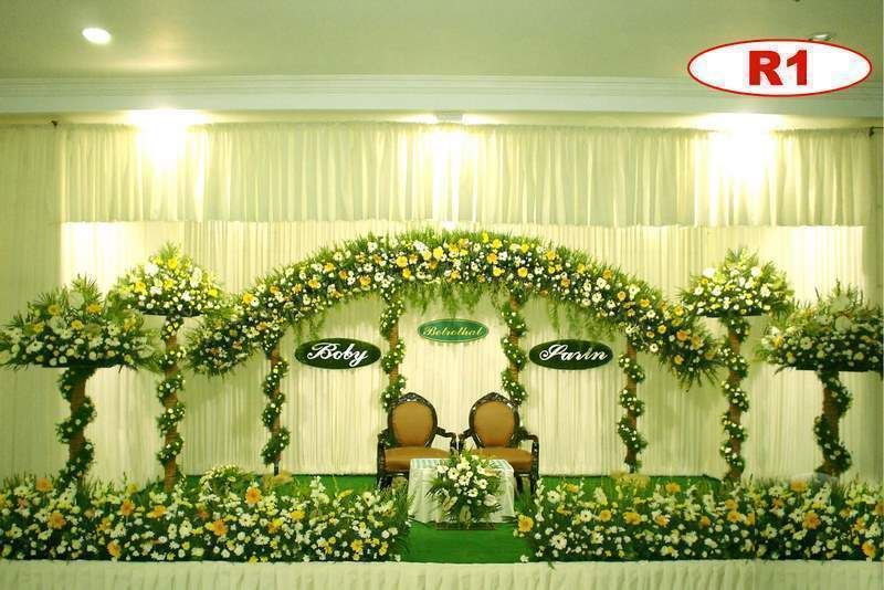 Christian Wedding Stage Decoration