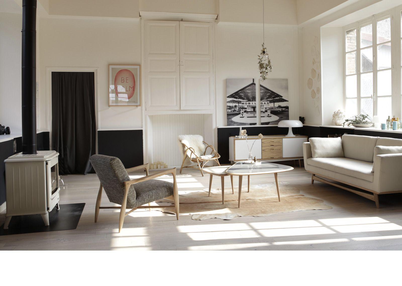fauteuil floating design de style scandinave en tissu. Black Bedroom Furniture Sets. Home Design Ideas