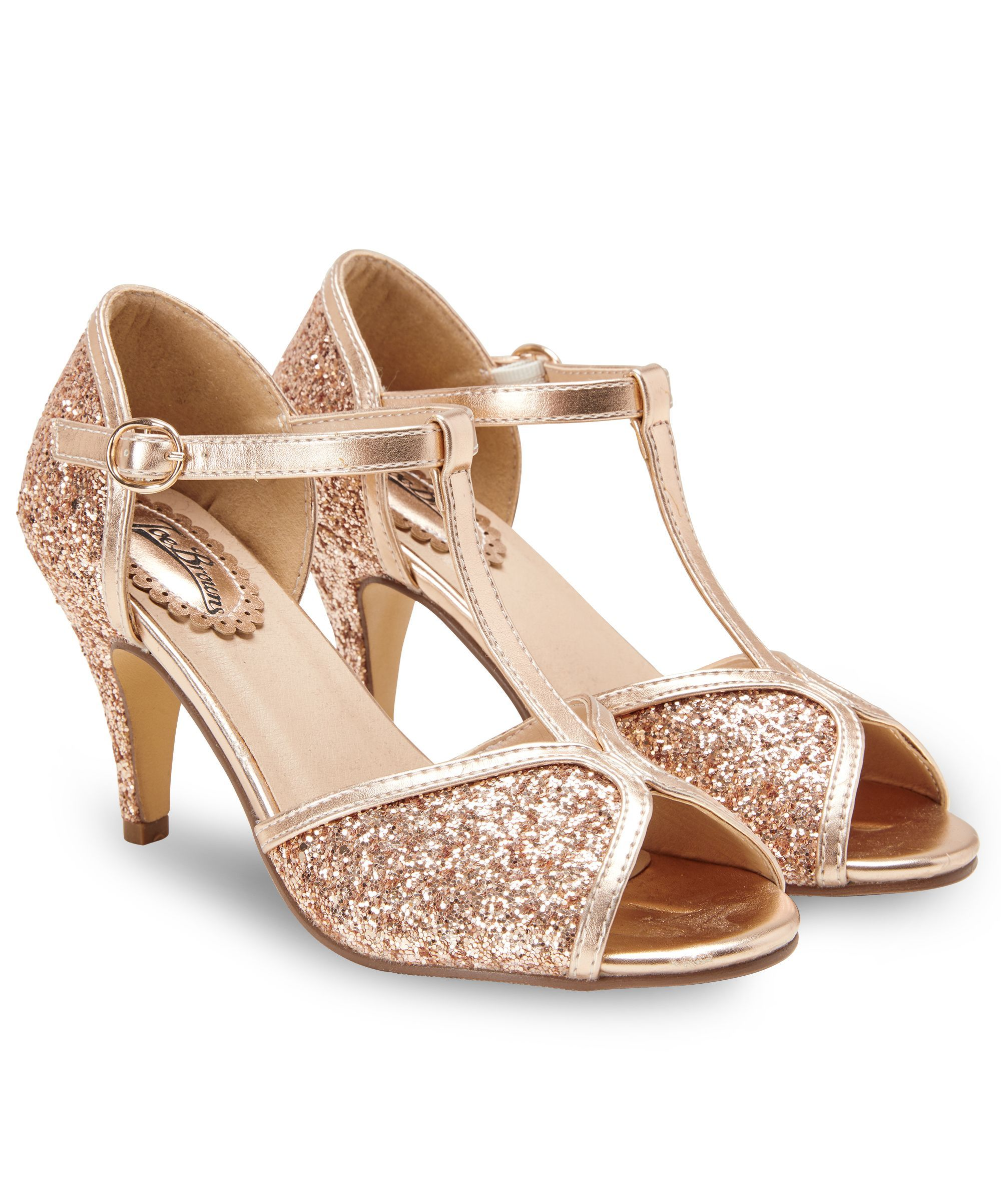 3f973831d45 Magical Evening Shoes Get the golden touch with these mesmerising T-bar  evening shoes.