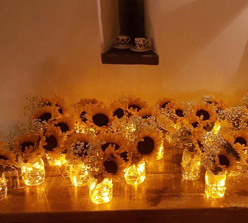 Light up wedding dress  When firefly sunflower Mason Jars light up the night No babies