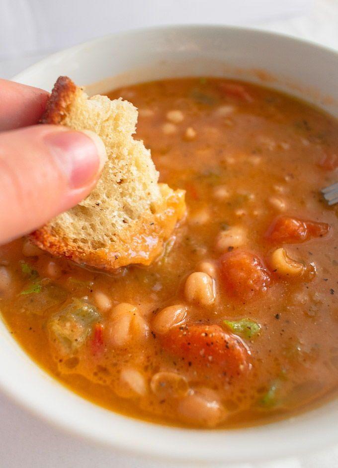 Fasolatha - White Bean And Tomato Soup - (Vegan, G