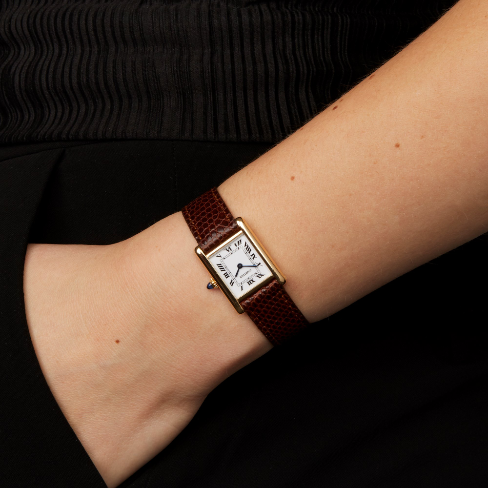 Cartier Tank Parisi Gynaikes Toy 1997 W6180 Xeiropoihta Rologia Xupes In 2020 Watches Women Leather Vintage Watches Women Cartier Watches Women