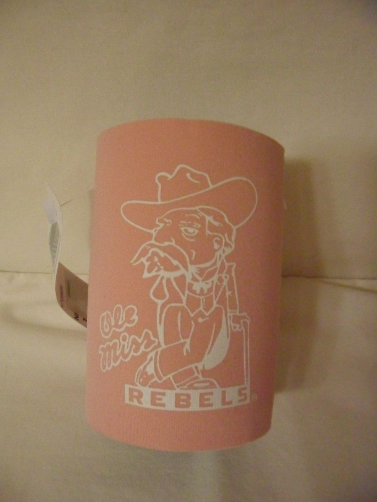 278f39cedd2 New Koozie Ole Miss Rebels Mississippi Colonel Reb Logo Pink Can ...