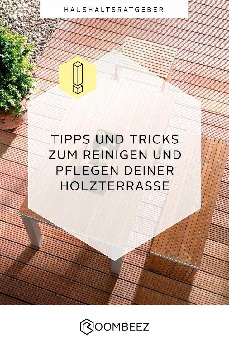 Holzterrasse Reinigen Tipps Fur Reinigung Pflege Roombeez