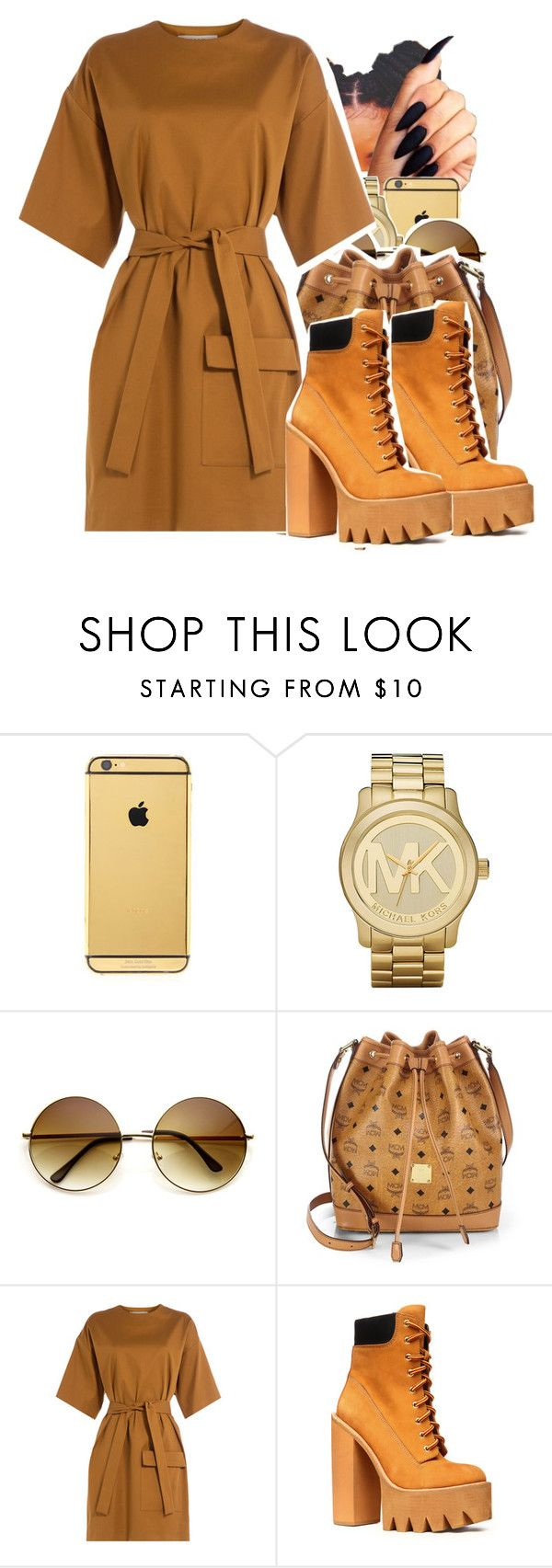 """Untitled #174"" by lesliekabengele on Polyvore featuring mode, Goldgenie, Michael Kors, MCM, MSGM et Jeffrey Campbell"
