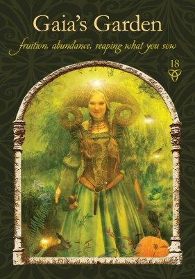 Reaping what you sow - Gaia's Garden  Wisdom of the Hidden Realms tarot