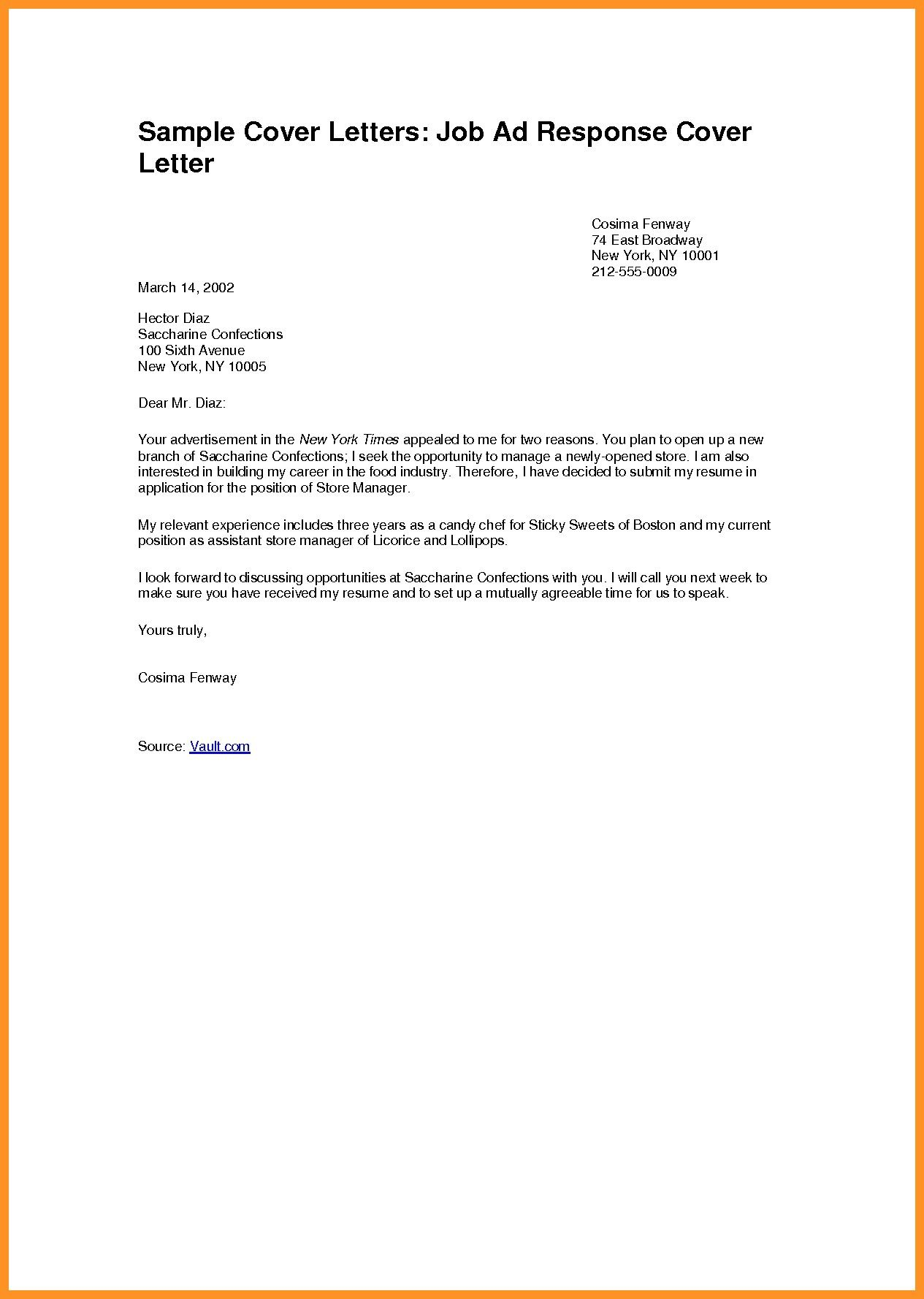 Cover Letter Template Example from i.pinimg.com