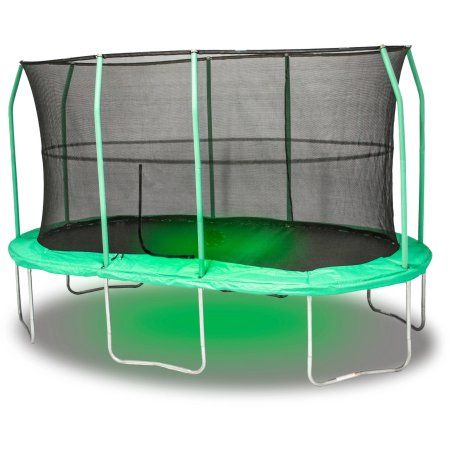 Jumpking Oval 9 X 14 Foot Trampoline With Sound And Light Green