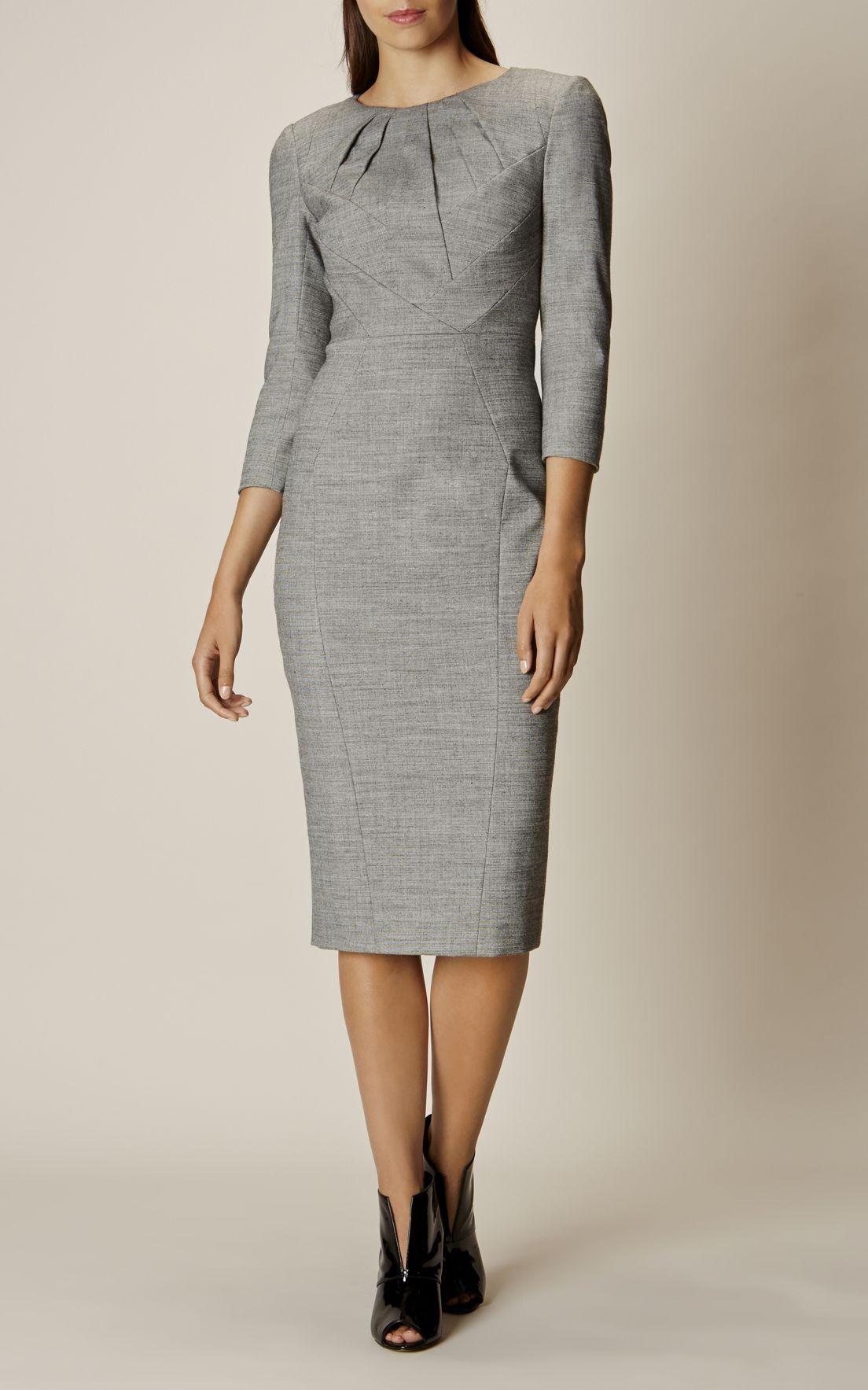 Karen Millen, TAILORED DRESS Grey | Fashion