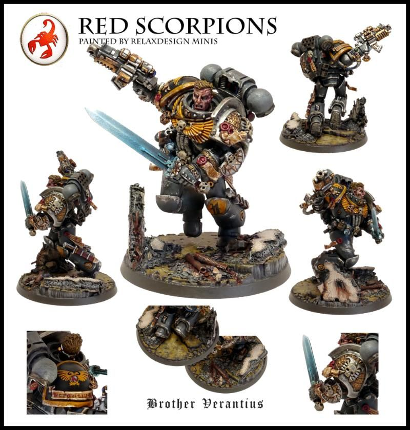 54mm, Inquisitor, Red Scorpions, Space Marines, Sternguard