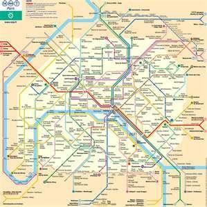 Metro Underground Map Paris Travel Paris Metro