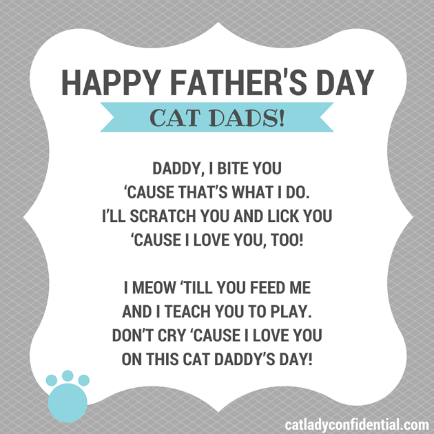 Happy fathers day cat dads cat poems cat dad and dads a cat poem dedicated to cat dads happy fathers day cat dads sciox Gallery