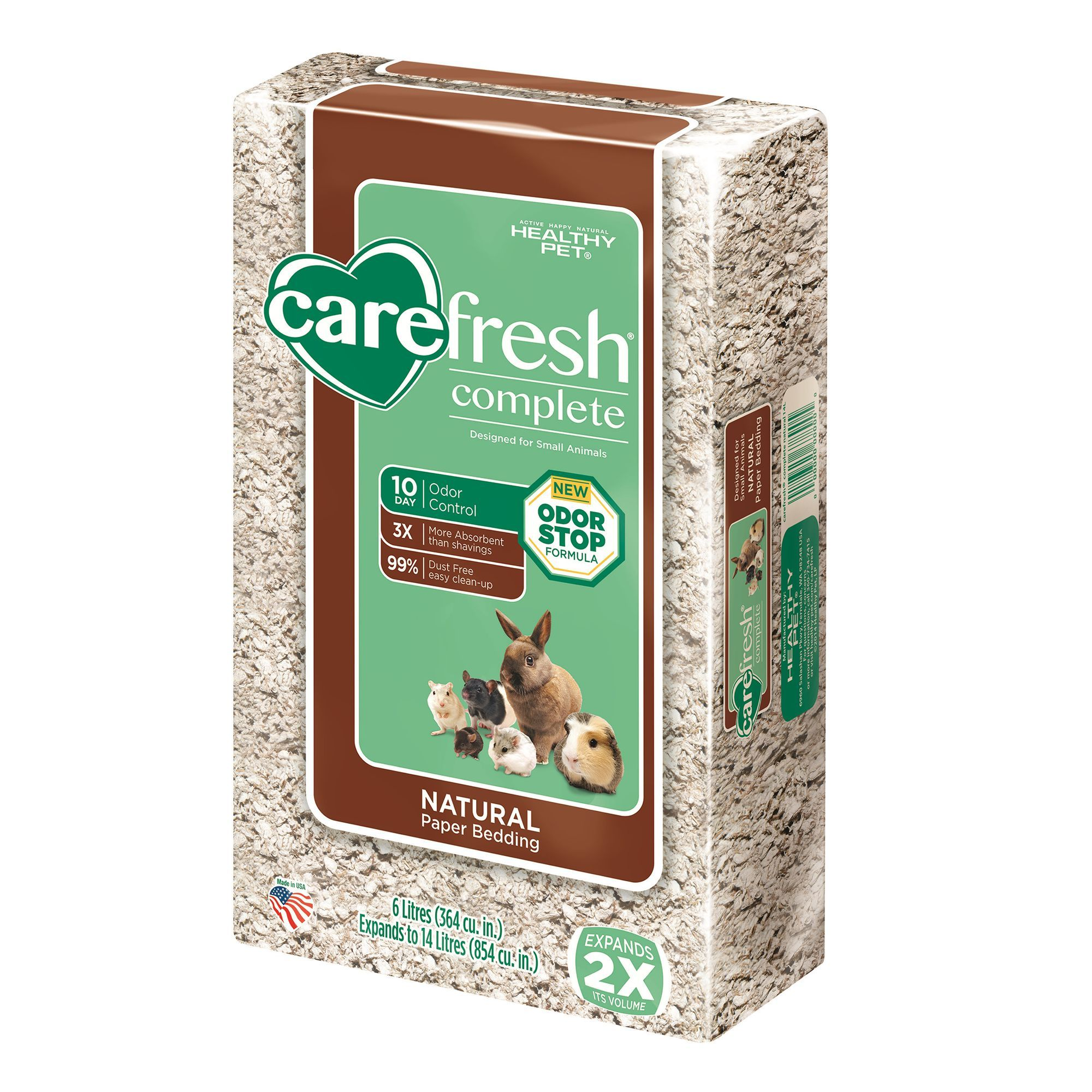 carefresh Natural Small Pet Bedding size 14 L, Tan