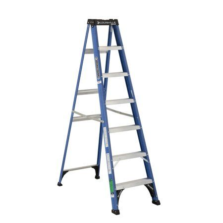 Louisville Ladder 7 Foot Fiberglass Step Ladder 225 Pound