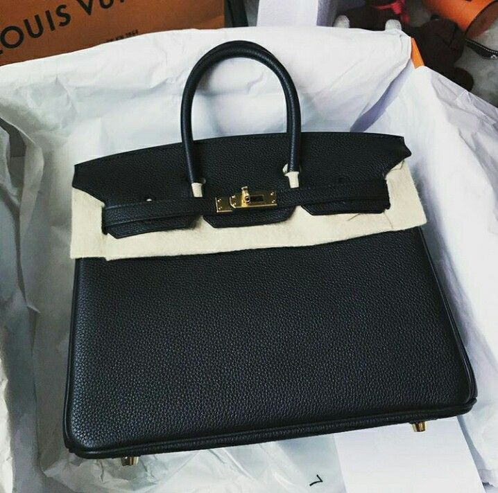 0c38b6cccf Model  Hermes Birkin 25 Condition  New Stamp  A Color  Black Leather ...