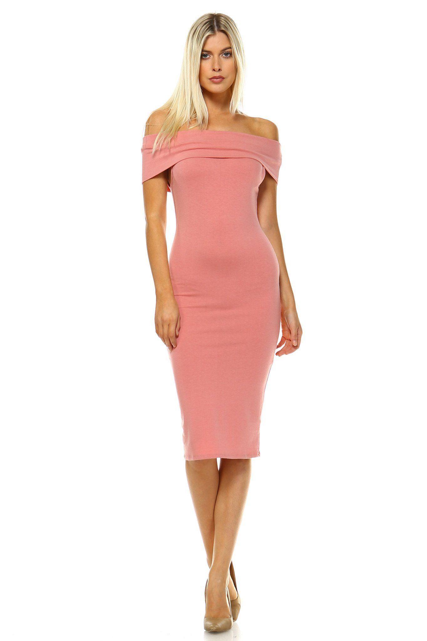 Women s Off Shoulder Bodycon Dress 3 colors and 3 sizes  439768d747
