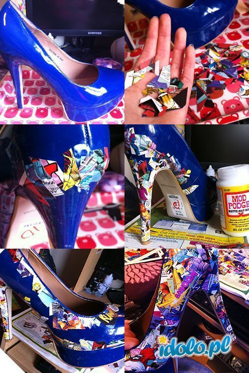 Diy shoe idea awesome i think this is in russian or polish but diy comic strip high heels fashion heels high heels diy craft crafts easy crafts diy ideas diy crafts do it yourself easy diy diy tips diy craft ideas diy solutioingenieria Choice Image