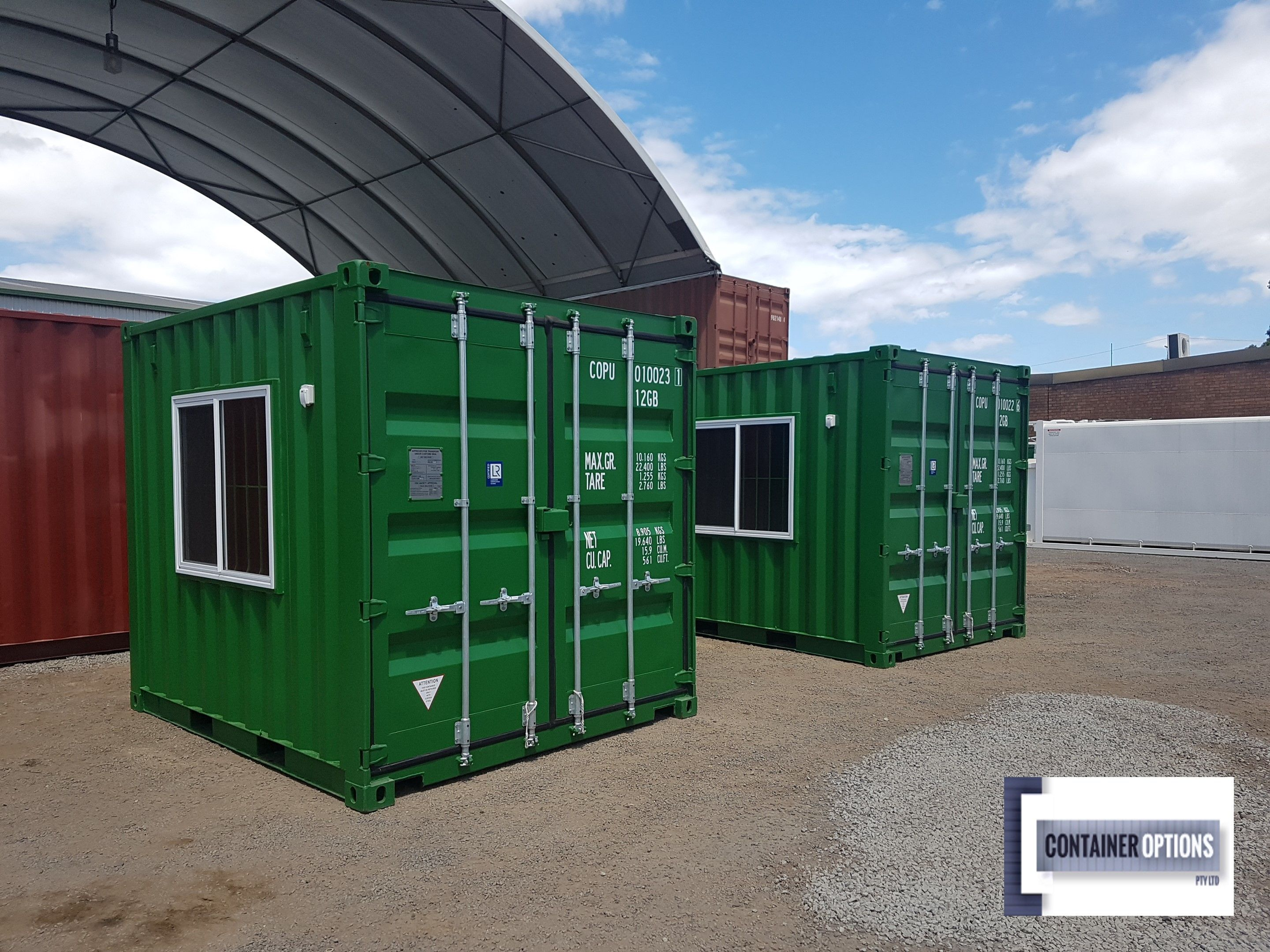 10ft Site Offices Site Office Container Cafe Sliding Windows