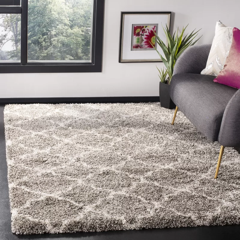 Leah Gray And Ivory Indoor Area Rug Reviews Allmodern Area Rugs Square Area Rugs Rugs