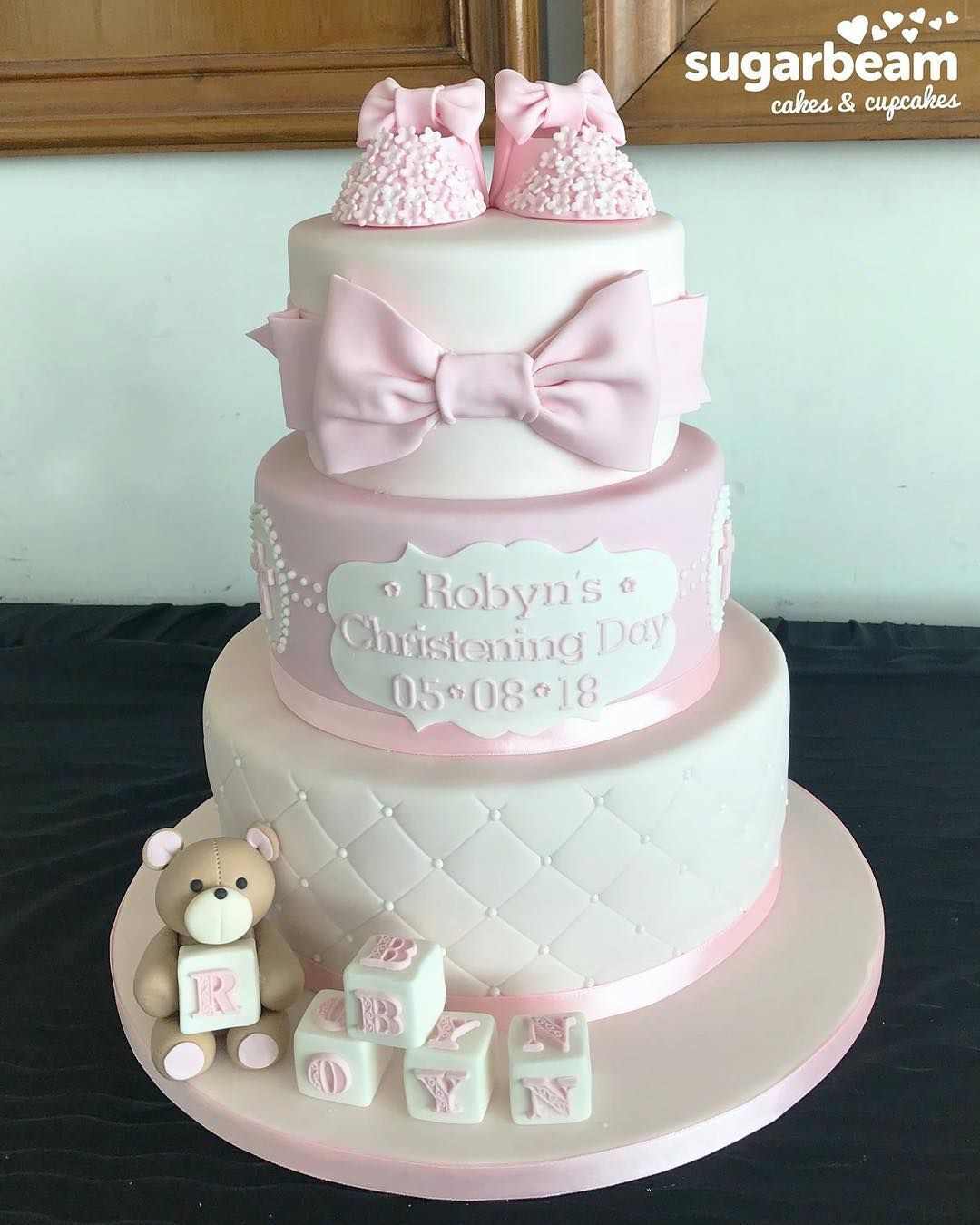 Beautiful Christening Cake For A Baby Girl Baby Girl Christening