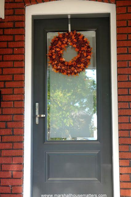 Marshall House Matters Halloween Wreath Steel Grey Front Door With
