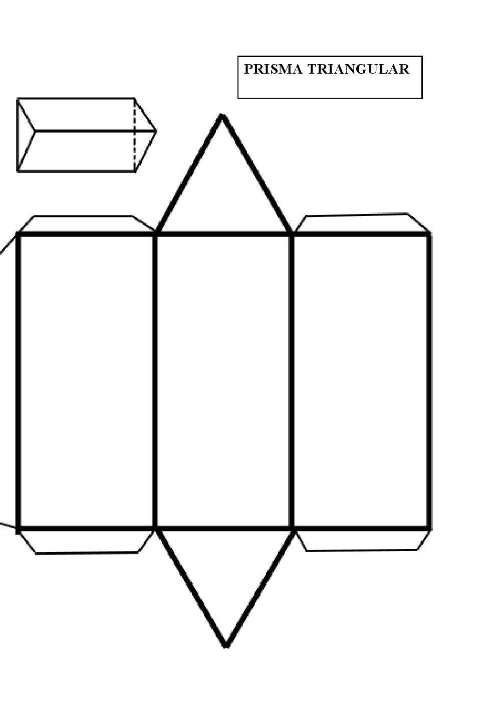 prisma triangular figura el prisma pinterest geometría