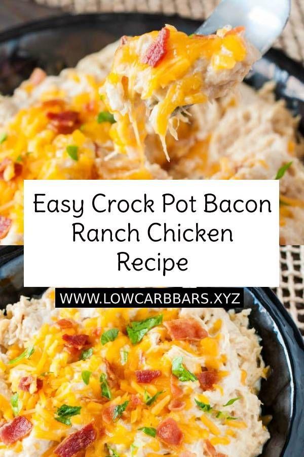 Easy Crock Pot Bacon Ranch Chicken Recipe images