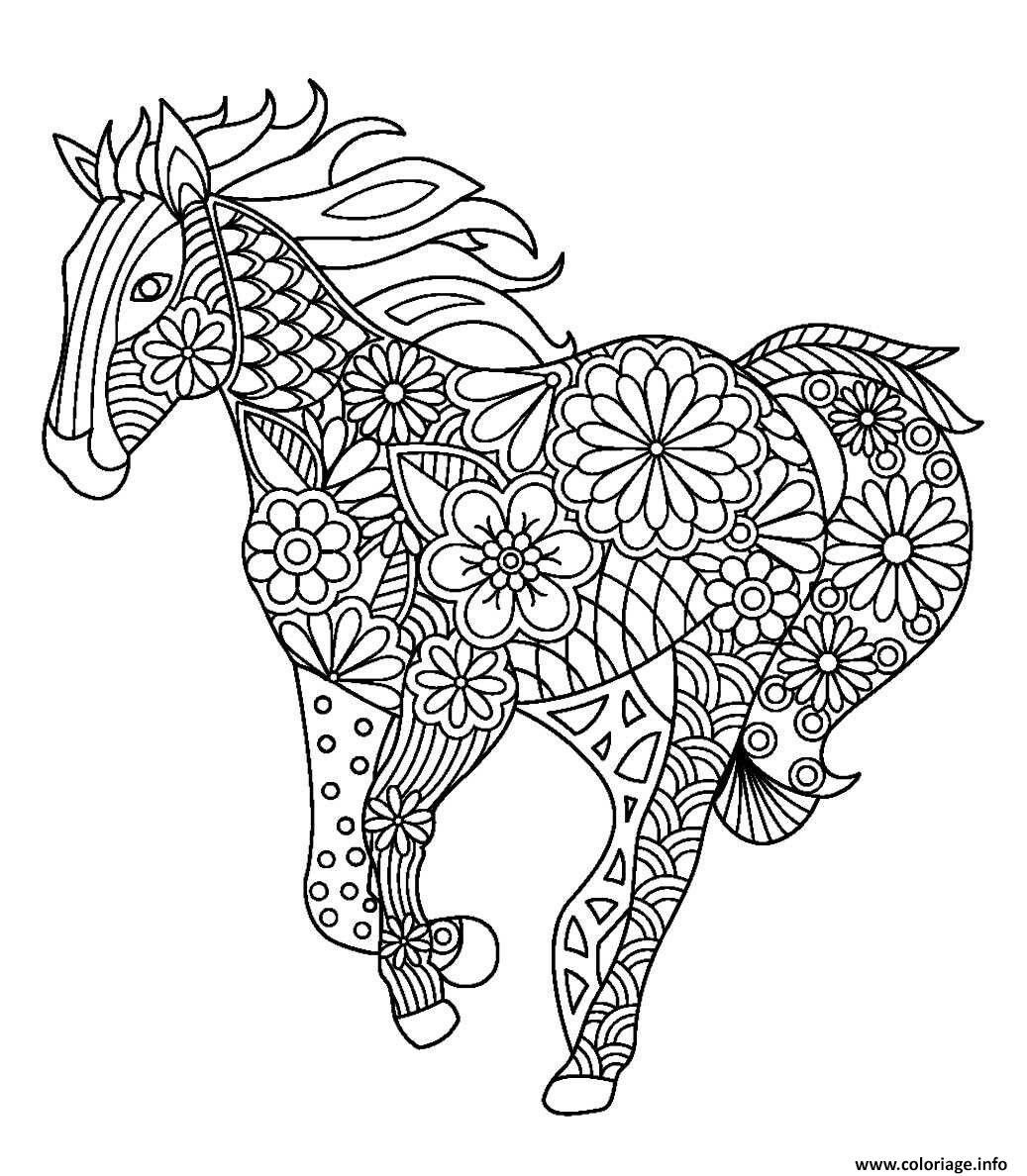 Coloriage A Imprimer Mandala Chevaux   Animal coloring pages ...