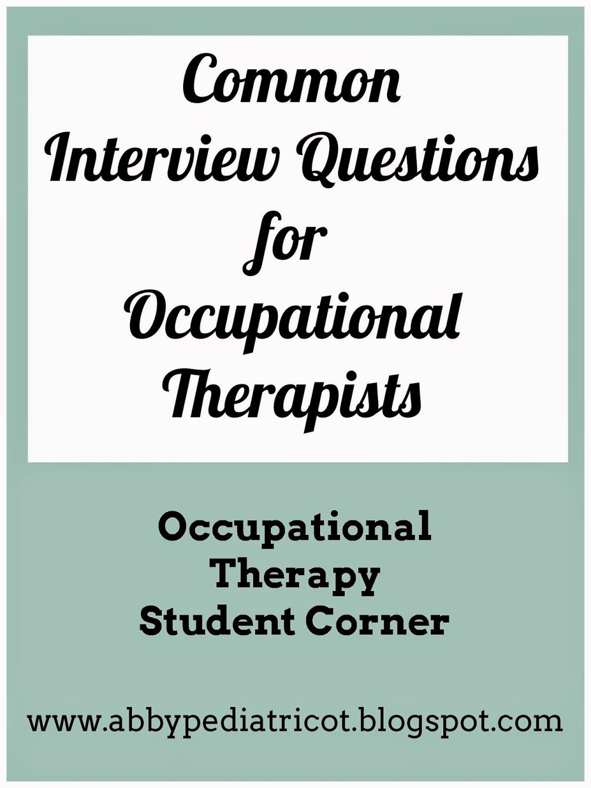 Nail Your Occupational Therapy Job Interview – Occupational Therapy Job Description