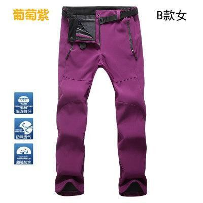 2016 Outdoor Men Women Hiking Fleece Pants Water Wind proof Thermal Antistatic For Camping Ski Fishing Winter Pants Throusers
