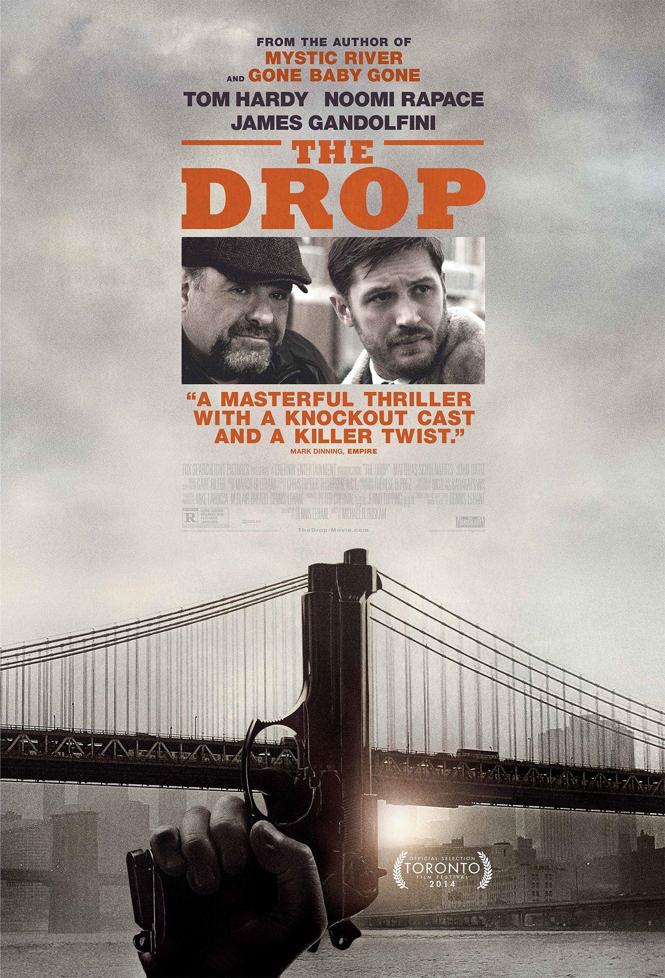Poster For The Drop Starring Tom Hardy Noomi Rapace James Gandolfini And Matthias Schoenaerts Tom Hardy Kino Film Filmplakate