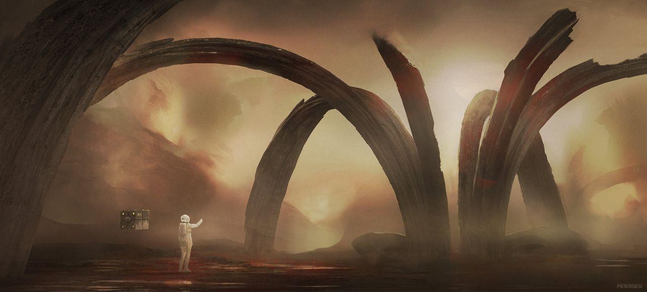 Sci-fi concept art by Kim Petersen.   Cinema Gorgeous