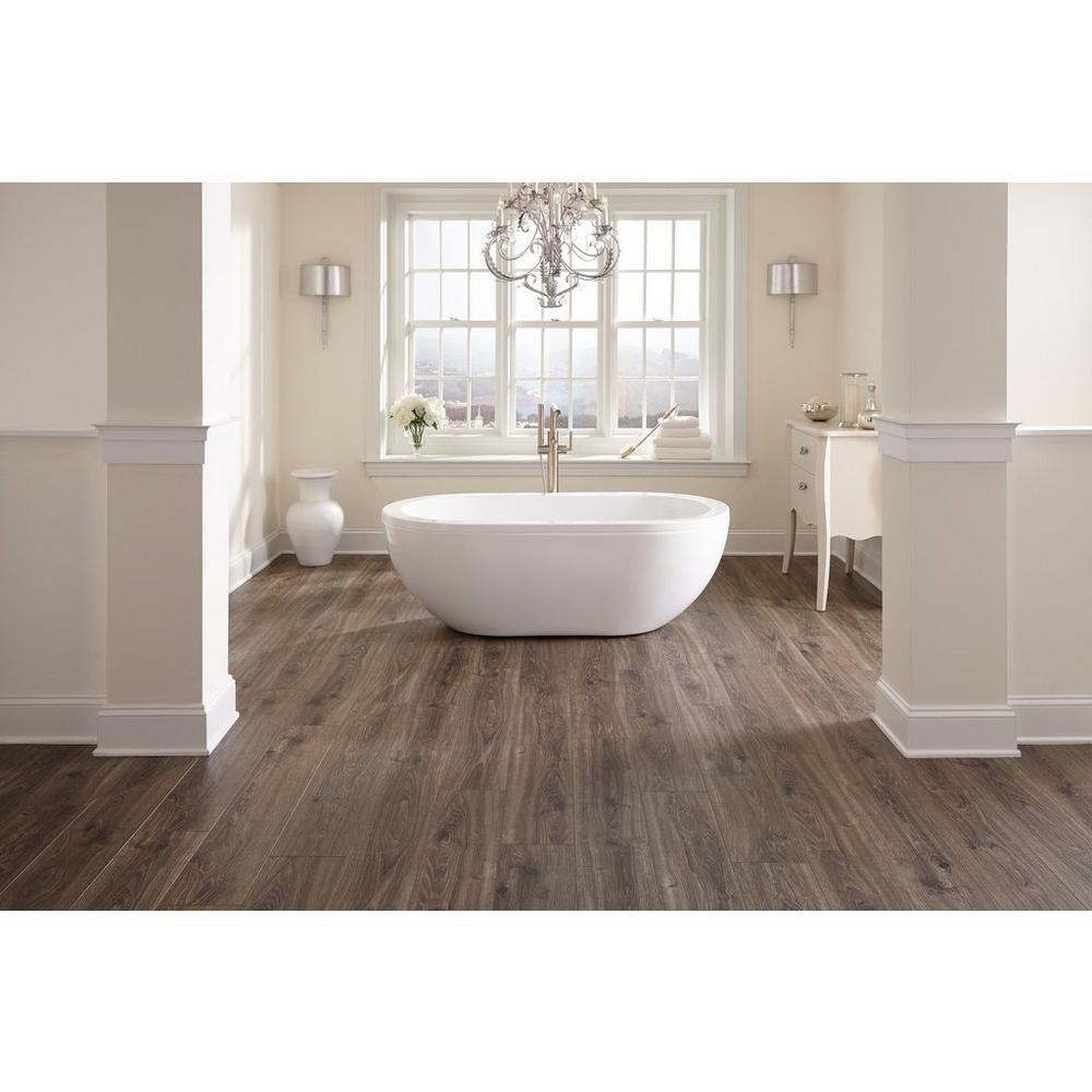 Aquaguard Smoky Dusk Water Resistant Laminate Floor Decor Wood Floor Bathroom Hardwood Floors In Bathroom Floor Decor