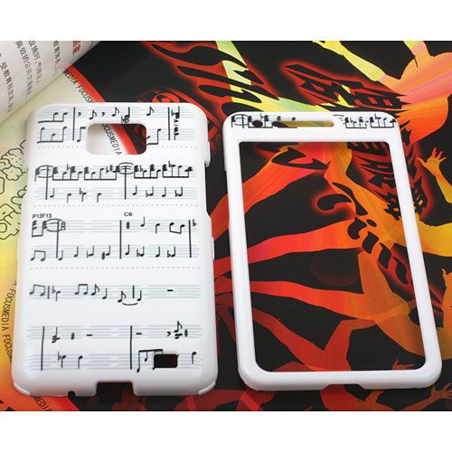 Samsung Galaxy S Ii Hard Music Symbols Print Front Back Cover Case