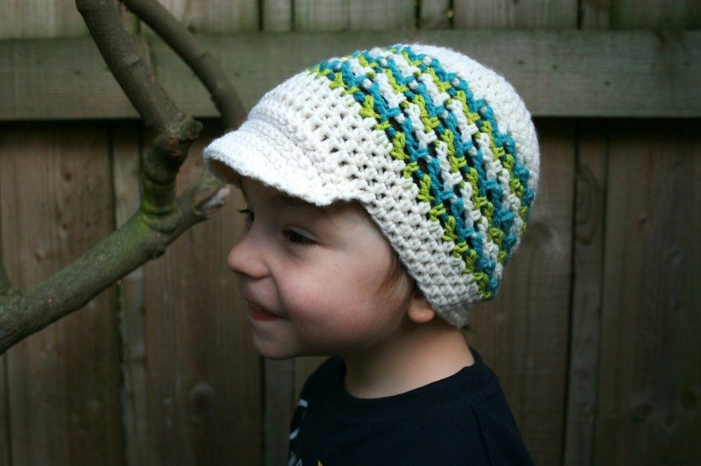 Crochet pattern newsboy hat pattern newsboy boy cap pattern baby hat ...
