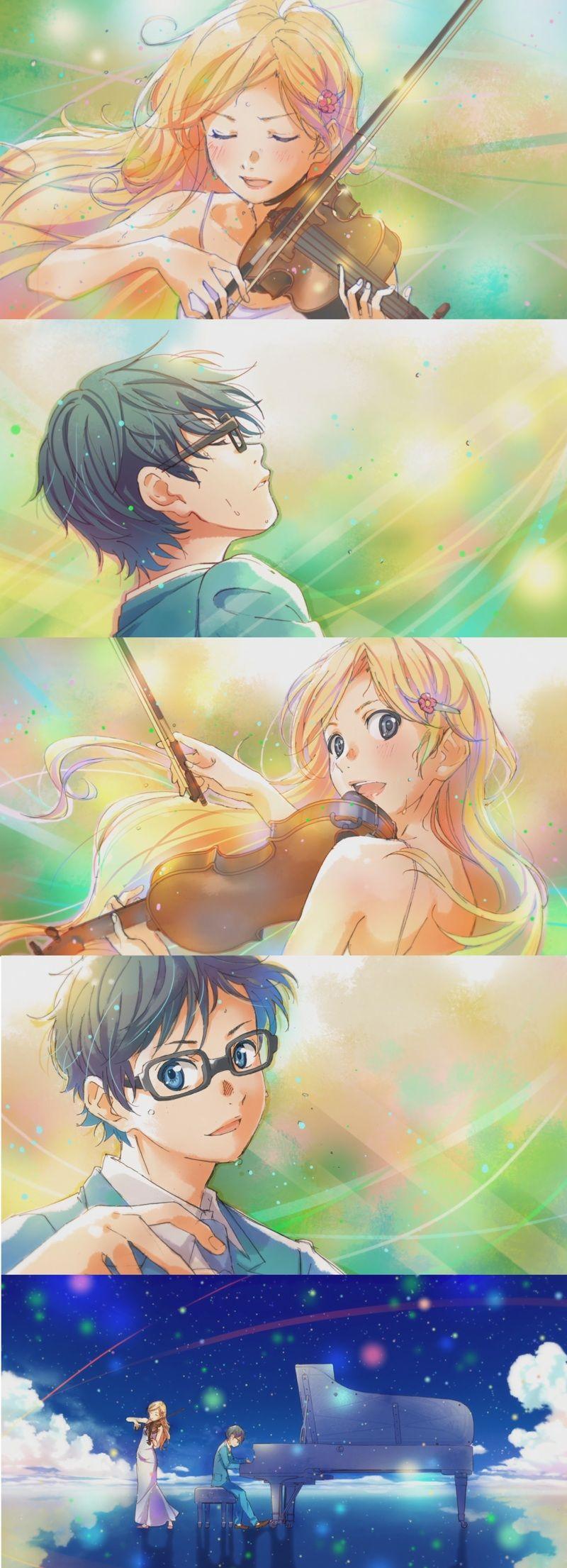 So Beautiful Shigatsu Wa Kimi Fondo De Pantalla De Anime Fondo De Anime Awesome phone your lie in april anime