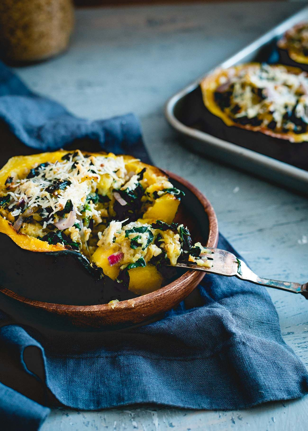 This Twice Baked Acorn Squash Is Stuffed With Tuscan Kale Hearty