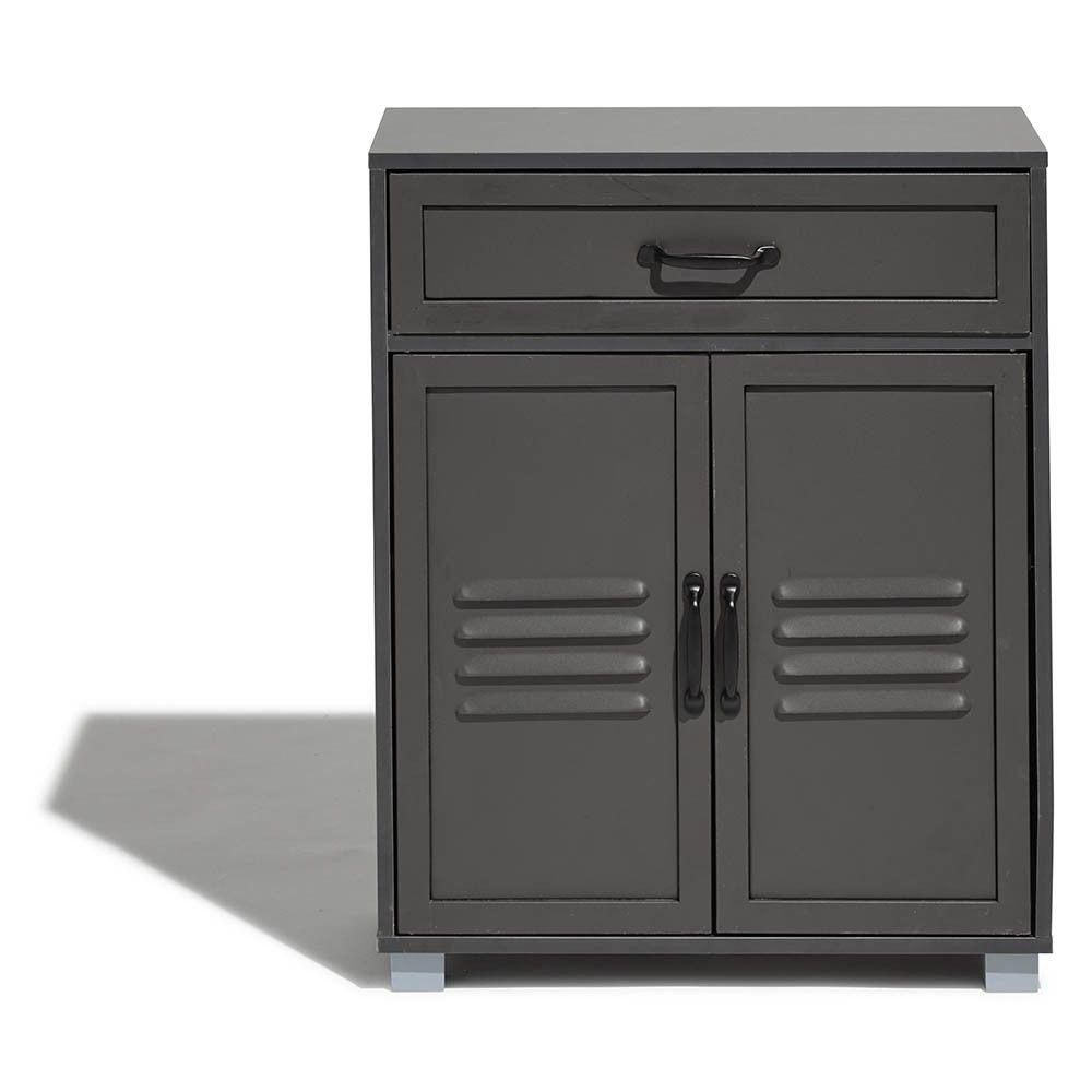 a41b7c37d Buffet Brooklyn anthracite avec 2 portes et 1 tiroir - Buffet et vaisselier  - Salle à manger et cuisine - Meuble | GiFi