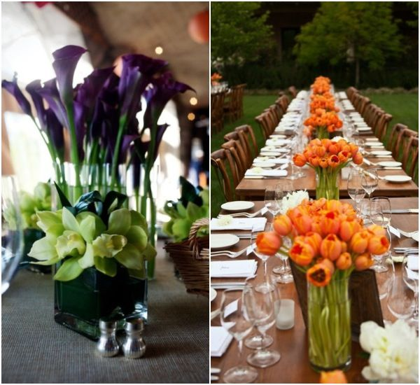 Wedding Decorations For Less: Less Is More: Gorgeous, Simple And Chic Centerpieces For