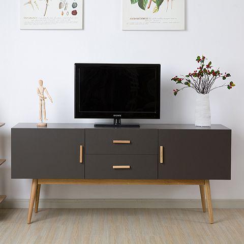 Sombre moderne et minimaliste table basse en bois meuble for Table tv bois