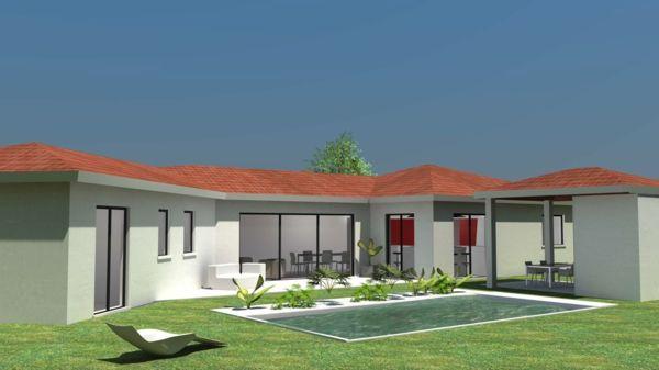 la maison plain pied moderne maisons pinterest maison plain pied et maison plain pied. Black Bedroom Furniture Sets. Home Design Ideas
