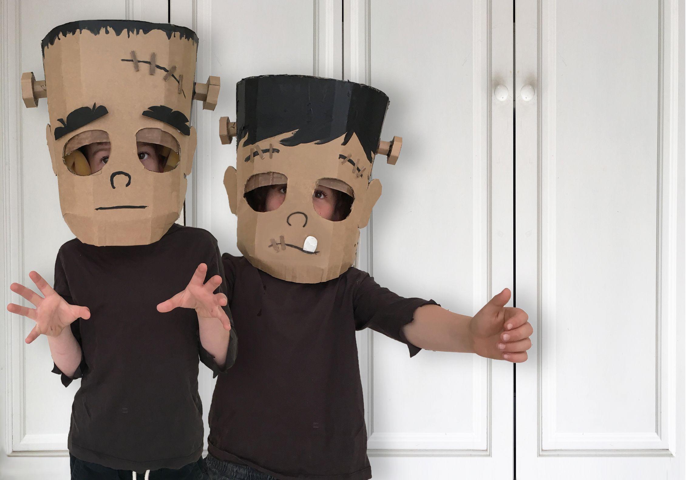Diy Frankenstein Costume Cardboard Costume Diy Costumes Kids Frankenstein Costume